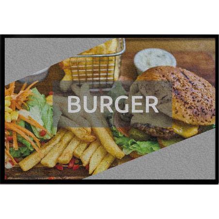 Tapis logo burger - Tapis thématique