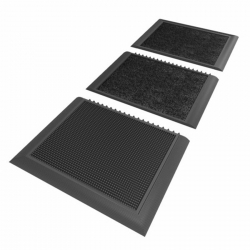 Tapis désinfection chaussures modulaire - Tapis désinfectants chaussures