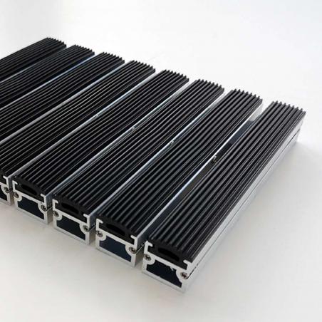 Tapis aluminium passage intensif caoutchouc - Tapis aluminium