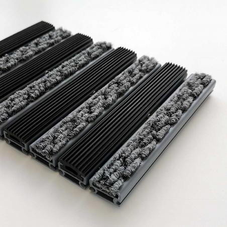 Tapis structure plastique caoutchouc/aiguilleté - Tapis aluminium