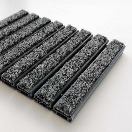Tapis d'entrée aspect aluminium velours - Tapis aluminium