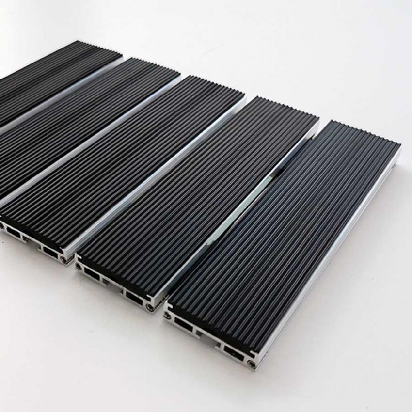 Tapis aluminium ultra fin caoutchouc - Tapis aluminium