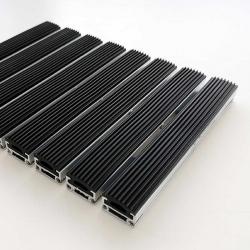 Tapis d'entrée structure aluminium fine - Tapis aluminium