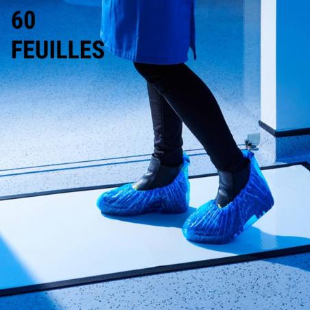Tapis décontamination 60 feuilles - Tapis désinfectants chaussures