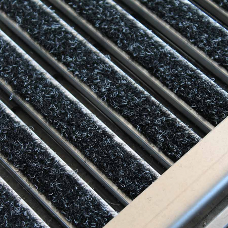 Tapis aluminium velours passage intensif - Tapis aluminium