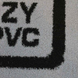 tapis logo entreprise zoom fibres rêches