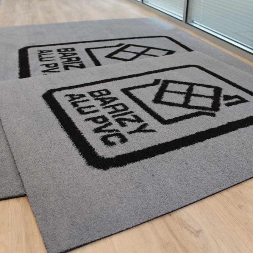 tapis personnalisé avec logo pour l'extérieur